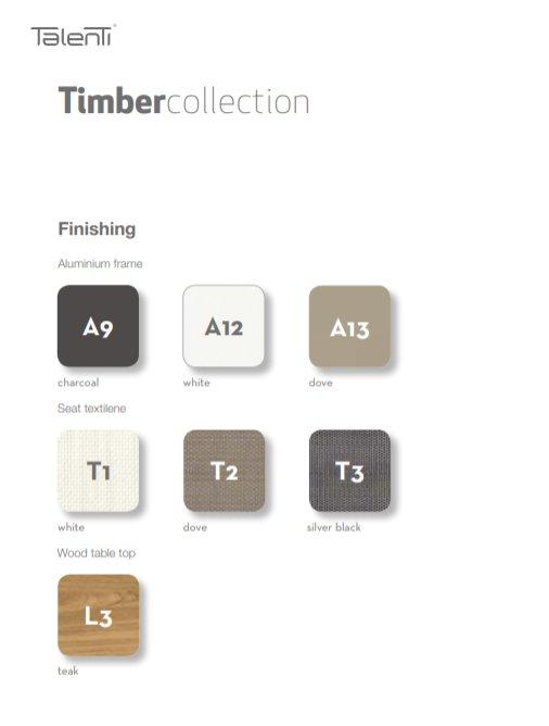 Timber Collectie van Talenti Outdoor exclusieve buitenmeubel tuinmeubel