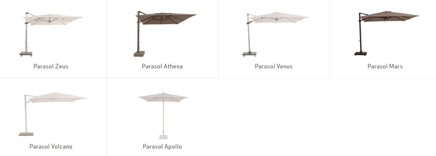 Parasol Collectie van Talenti Outdoor Tuin Garden furniture meubels